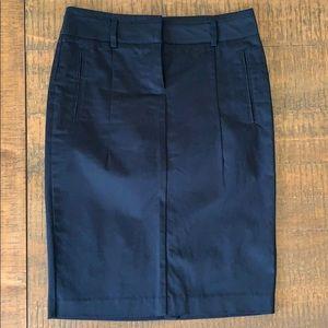 NWOT Zara Black Chino Cotton Pencil Skirt, S